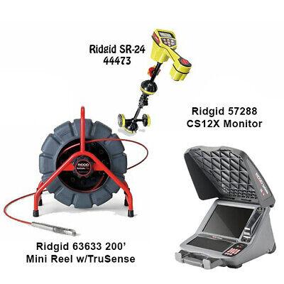 Ridgid 200 Mini Reel 63633 Seektech Sr-24 Locator 44473 Cs12x 57288