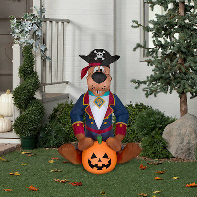 Halloween Airblown Inflatable Pirate Scooby Doo w Pumpkin Gemmy 4FT NEW](Scooby Doo Inflatable Halloween)
