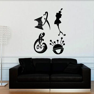 Wall Decal Handicraft Craft Hand Atelier Seamstress Mannequin Needle - Atelier Wall