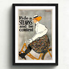 Reproduction Vintage Bicycling Art