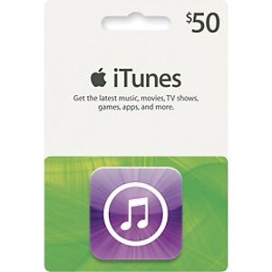 Genuine APPLE $50 US iTUNES GIFT CARD - *WORLDWIDE* (Free Fast Email Delivery)