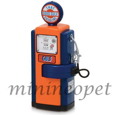 Greenlight 14020 B 1948 Wayne 100A Gulf Oil Gasoline Gas Pump For 1 18 Diecast