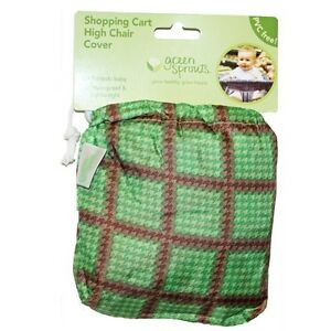 Green-Sprouts-Green-Shopping-Cart-High-Chair-Cover-Baby-Waterproof-PVC-FREE-NEW