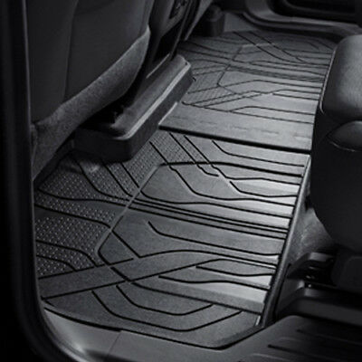 (2018 Traverse GM 2nd Row 7 Passenger All Weather Floor Liners Jet Black 84206854)