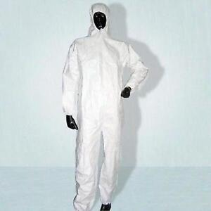 White-Disposable-Hooded-Spray-Suit-Overall-X-Large