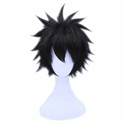 Cosplay Wig Short Black Boy Male Halloween Anime Expo Costume Soft