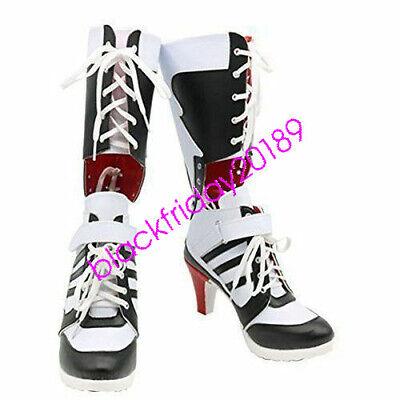 Batman DC Comics Suicide Squad Harley Quinn Halloween Cosplay Boots High