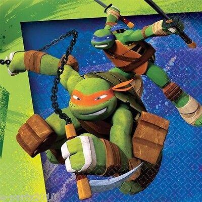 TEENAGE MUTANT NINJA TURTLES SMALL NAPKINS (16) ~ Birthday Party Supplies - Teenage Mutant Ninja Turtles Birthday Party