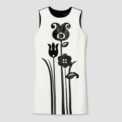 NEW NWT Victoria Beckham For Target Black & White Mod Shift Tulip Applique 3 X