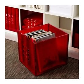 Ikea LEKMAN storage boxes in red x6