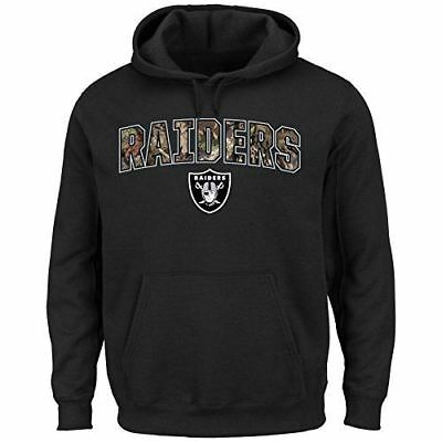 Oakland Raiders Majestic Athletic Mens Heritage Camo Pullover Hooded Sweatshirt  Majestic Athletic Mens Pullover