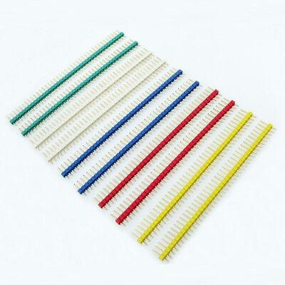 10x 2.54mm 1x40Pin Single Row Straight Male Copper Pin Header 4 PCB Arduino BH