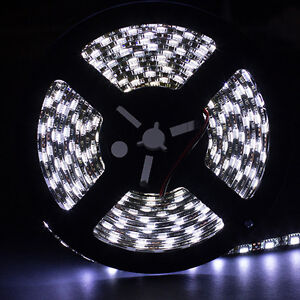 SUPERNIGHT™ 5M Cool White Waterproof Light Strip 300 LED 5050 12V Black PCB