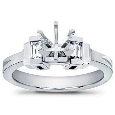 0.40 Ct Ladies Baguette Cut Diamond Semi Mount Engagement Ring