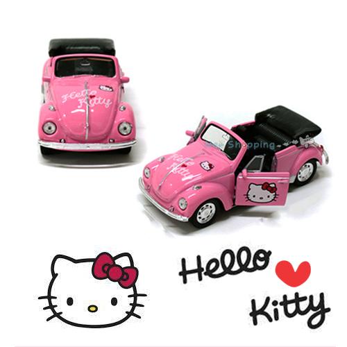 hello kitty classic diecast volkswagen mini car figure model toy