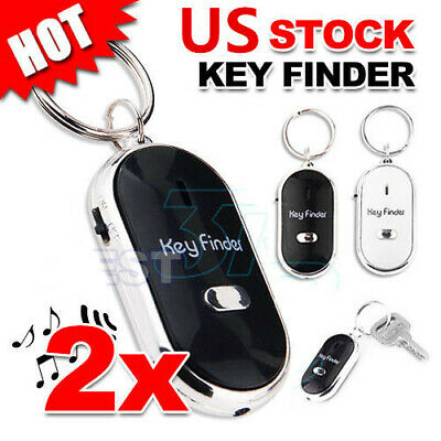 2X LED Wireless Key Finder Light Torch Remote Control Locato