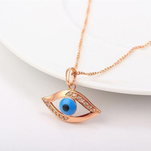 Evil Eye Necklace Gold  f091d454c1