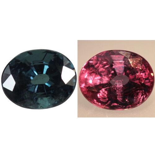 1.42ct 7x5.6mm Oval-Cut Natural Blue To Purplish Pink Color Change Garnet