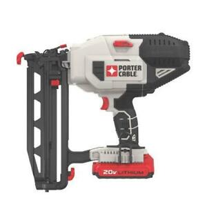 Porter-Cable Lithium 16GA Straight Finish Nailer Kit (PCC792LA)