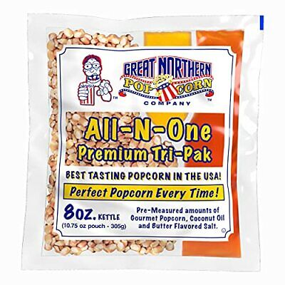 8 Oz Popcorn Packs Pre-measured Movie Theater Style All-in-one Kernel Salt ...