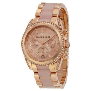 Michael Kors Blair MK5943 38mm Wrist Watch for Women Rose Gold