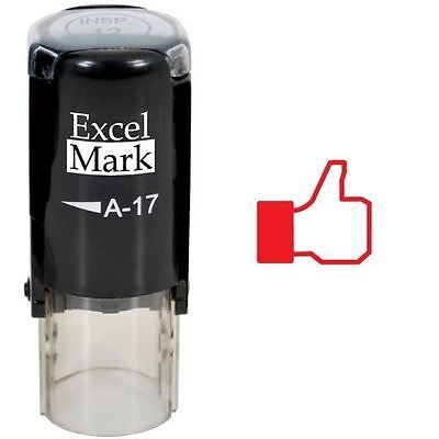 New Excelmark Fb Thumbs Up Round Self Inking Teacher Stamp A17 Red Ink