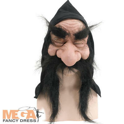Masked Magician Halloween Costume (Gnome Mask Fancy Dress Halloween Mens Troll Goblin Hobbit Wizard Adults)