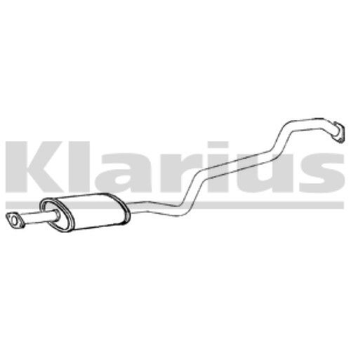 1x KLARIUS OE Quality Replacement Middle Silencer Exhaust For NISSAN Diesel
