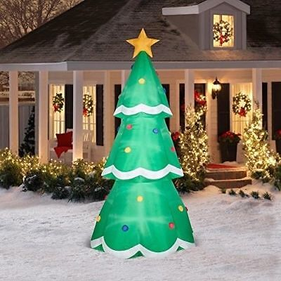 Giant Christmas Tree (10 FT GIANT CHRISTMAS TREE Airblown Lighted Yard Inflatable )