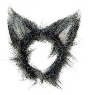 Erwachsene Damen Rotkäppchen Wolf Ohren Stirnband Kostüm - Wolf Ohren Stirnband Kostüm