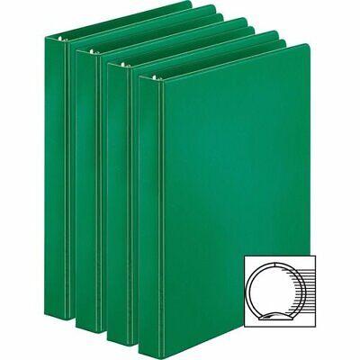 Business Source Round Rings Binders 1 Cap 4 Green 4 Binders Bsn28556bd