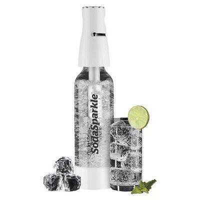 Soda Sparkle Wassersprudler Starter Set inkl. Flasche und CO2 Kartuschen weiss