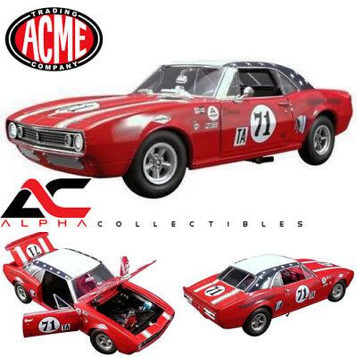 ACME A1805712 1:18 1967 CHEVROLET CAMARO #71 JOIE CHITWOOD 1968 DAYTONA 24 HOURS