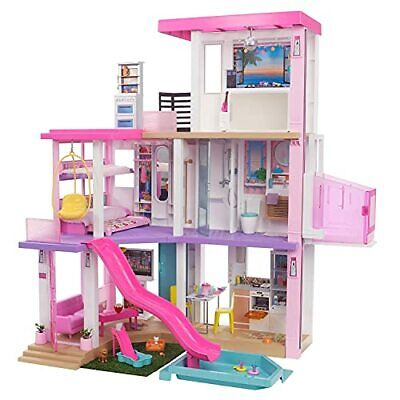 Barbie Dreamhouse 3.75-ft 3-Story Dollhouse Playset with Pool & Slide Party Room