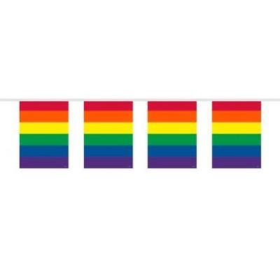 Regenbogenfarben Flagge Plastik Dekoration Fahnentuch Kostüm Gay Pride LGBT