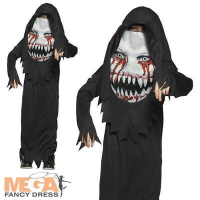 Horror Harry Boys Fancy Dress Spooky Scary Halloween Face Kids Costume Outfit - Spooky Kids Kostüm
