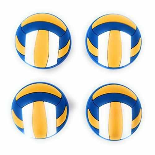 4pcs volleyball sports shoe charms for crocs