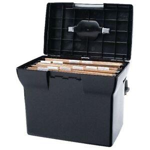 Plastic File Box | Black | With 5 A4 suspension files
