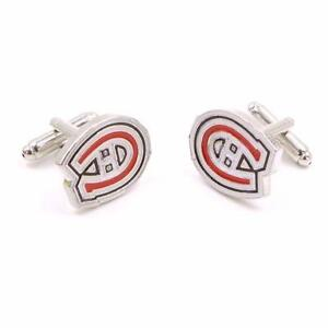 Men's Metal and Enamel Montreal Canadiens Cufflinks
