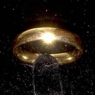 14K SOLID YELLOW GOLD RING SIZE 8.5 WEDDING BAND 4.2 MM WIDE
