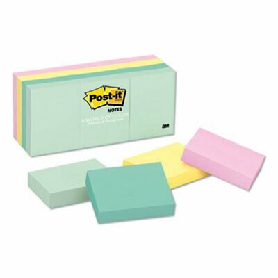 Post-it Notes Color Notes 1-12 X 2 Pastel Colors 12 Pads Mmm653ast