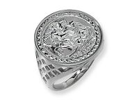 SILVER COIN MENS RING