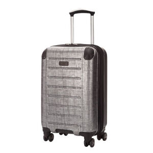 """Kenneth Cole Charcoal 20"""" Expandable Carry On Suitcase"""
