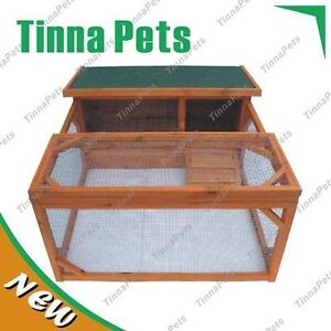 Extra-window-Rabbit-Ferret-Guinea-Pig-Cage-with-Run-Hutch-T017-Free-pick-up