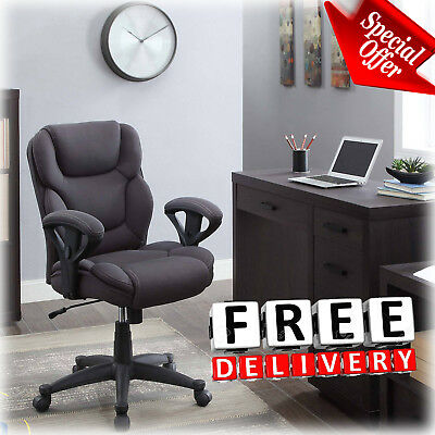 Modern Office Chair Fabric Mesh Contemporary Manager Upholster Adjustable (Contemporary Mesh Office Chair)