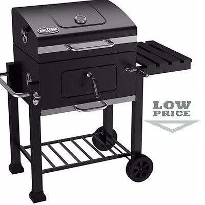 Charcoal Barbecue Grill BBQ Outdoor Patio Backyard Deck Cooking Wheels Portable