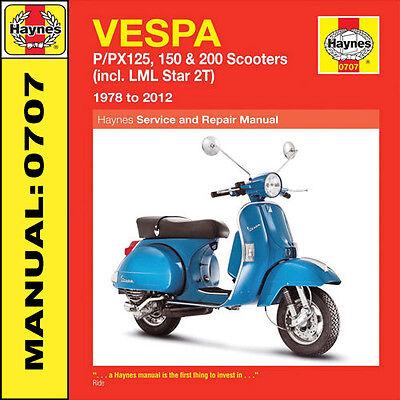 Vespa Scooter P125 P125X PX125E PX125T5 Classic P150X PX150E Haynes Manual NEW