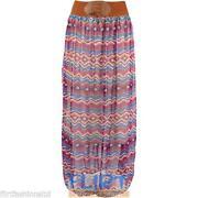 Floral Chiffon Maxi Skirt