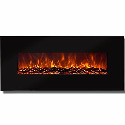 "Best Choice Products 50"" Electric Wall Mounted Fireplace Heater Smokeless Heat"