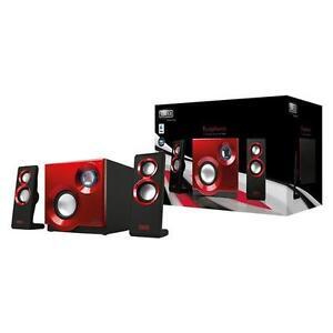Sweex 2.1-Lautsprechersystem Purephonic 60 Watt rot Computerboxen Lautsprecher